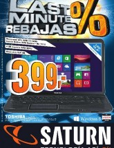 Folleto de Saturn Rebajas